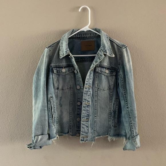 Blank NYC Jackets & Blazers - Cutoff Denim Jacket